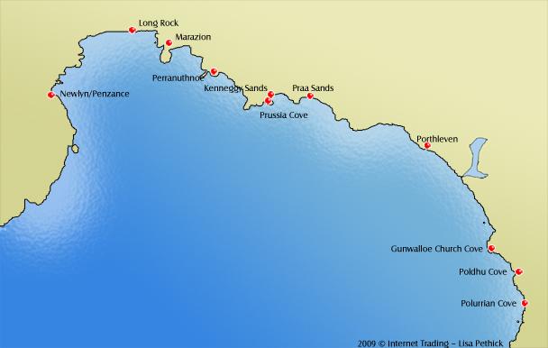 Beaches Of Cornwall Penzance Porthleven Marazion