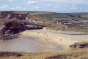 Gunwalloe Church Cove beach