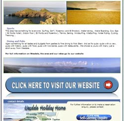 Cornish Holiday rental advertising