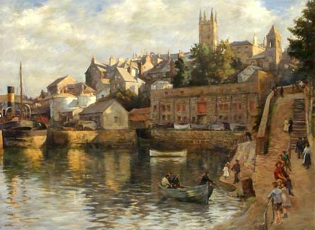 Abbey Slip, Penlee gallery - 1921 by Stanhope Forbes