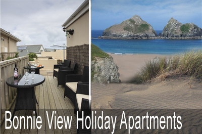 Bonnie View Apartments     Holywell Bay nr. Newquay     Self Catering