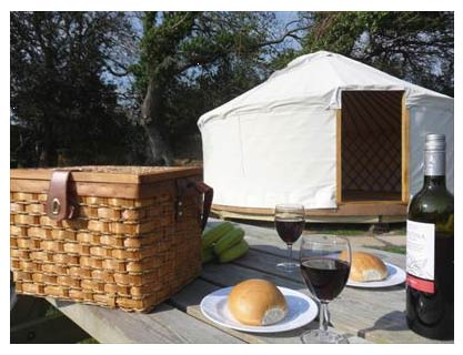 East Crinnis Mongolian Yurts - Self Catering + Camping