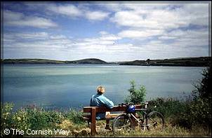 A relaxing moment on the Camel Trail