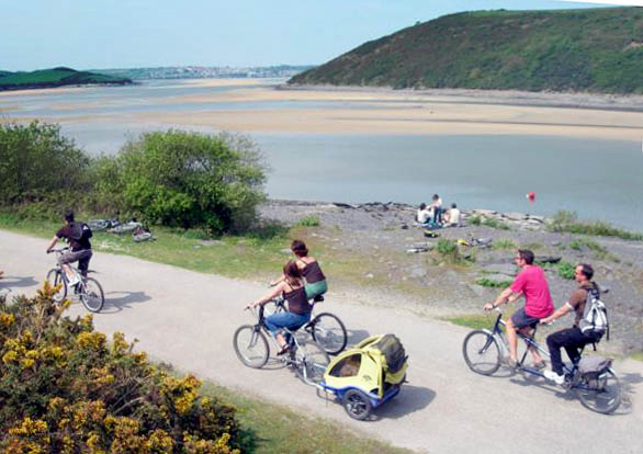 Cycling on The Camel Trail in North Cornwall
