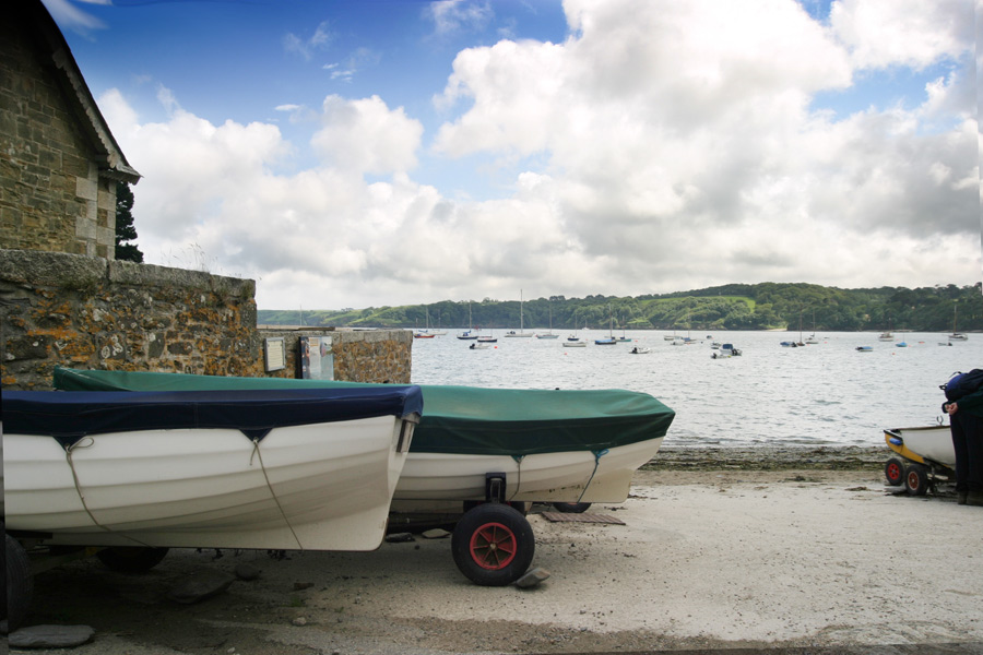 Boats at Durgan Helford Estuary - Photo Matthew Brannan