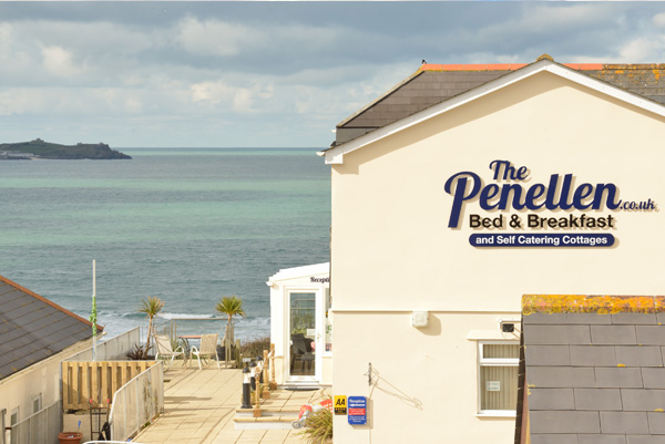 The Penellen Hotel     St Ives Bay, Hayle,     Bed & Breakfast