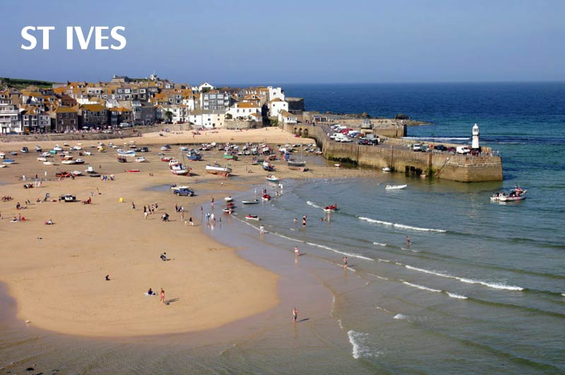 St Ives -harbour and beach