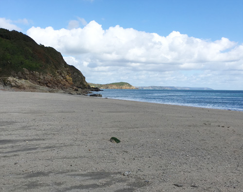 Pentewan Beach - looking towards Black Head and Gribben Head