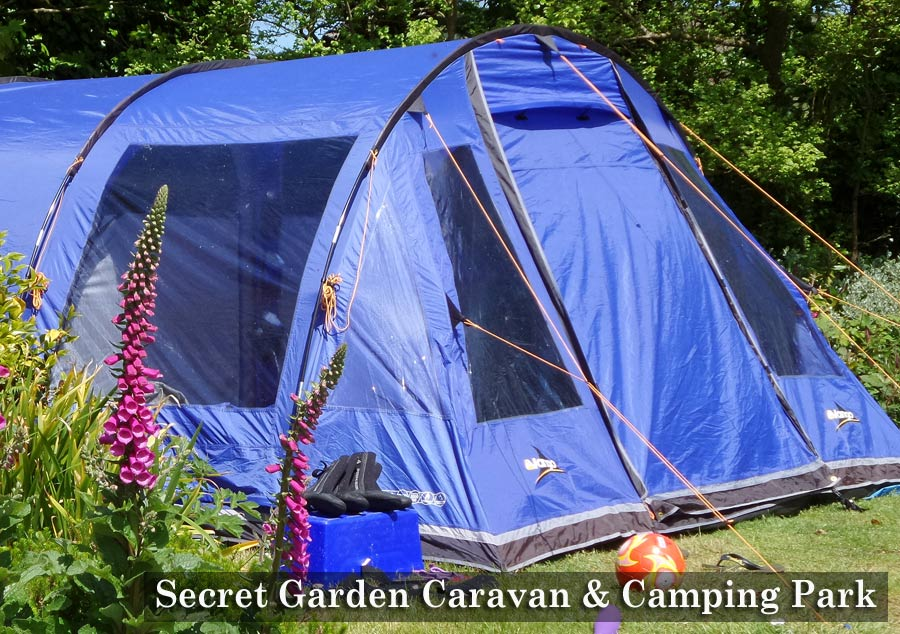lands end sennen caravan camping secret garden camping and. Black Bedroom Furniture Sets. Home Design Ideas