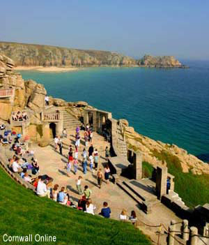 The Minack theatre overlooking Porthcurno Beach - photo M Frost